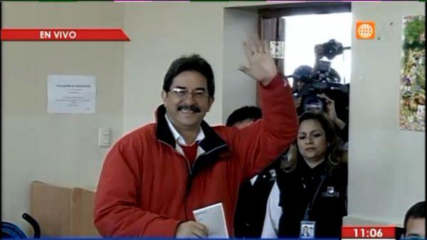 Enrique Cornejo elecciones voto