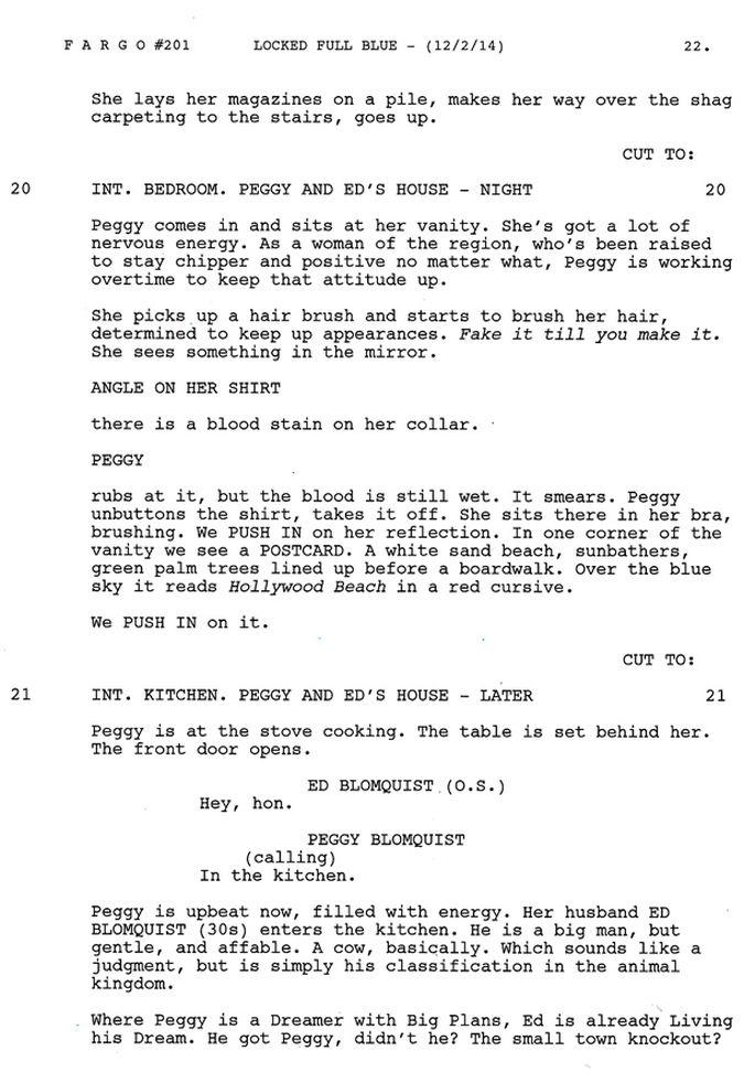 Fargo temporada 2 guion