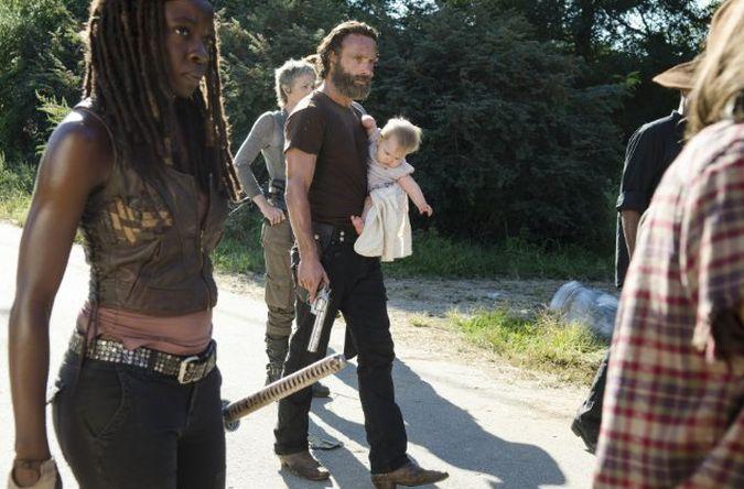 the walking dead temporada 5 episodio 12 rick grimes michonne