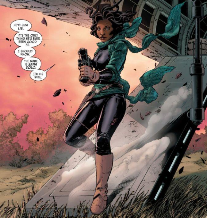 sana solo esposa han star wars marvel comics