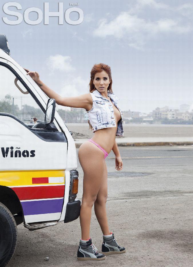 Fiorella Flores modela para SoHo Perú