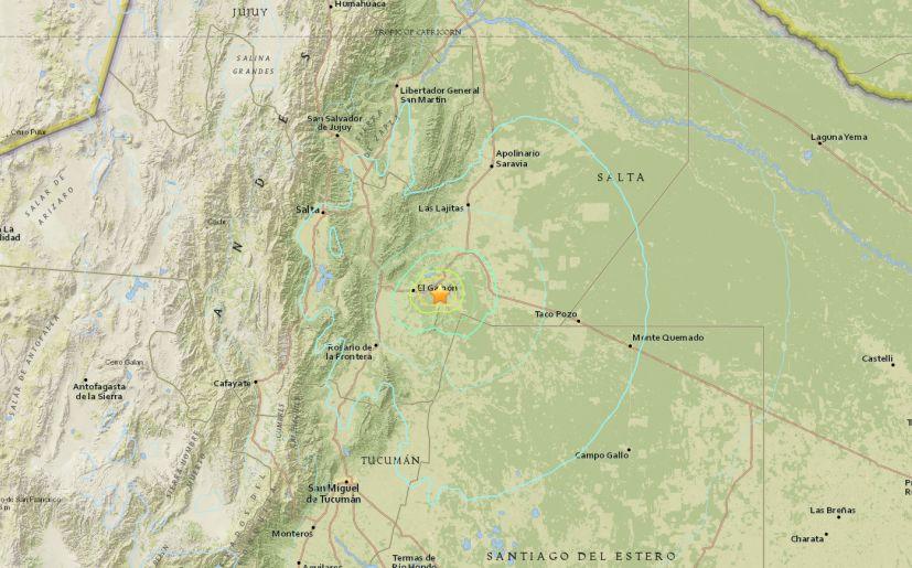 temblor en salta epicentro sismo argentina