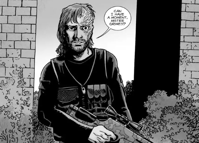 the walking dead comic dwight