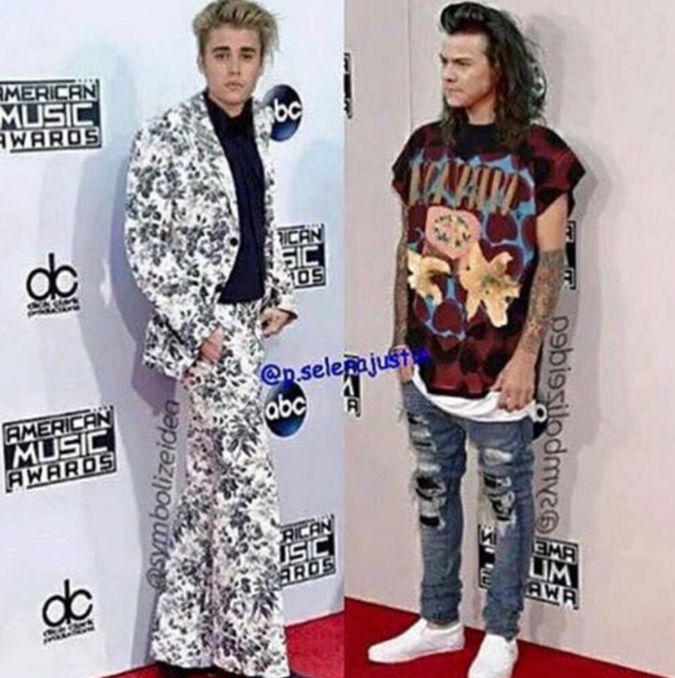 Justin Bieber y Harry Styles tuvieron un cambio de vestuario