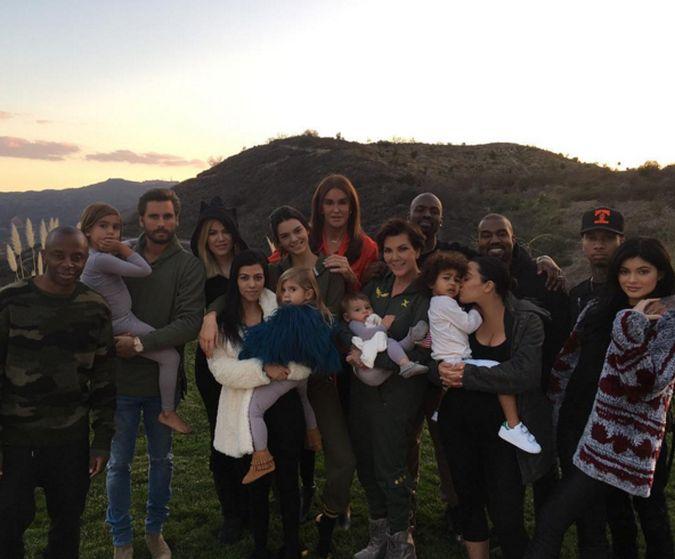 familia kardashian jenner dia de accion de gracias