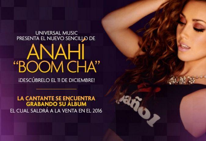 Anahí lanzará 'Boom Cha' el 11 de diciembre