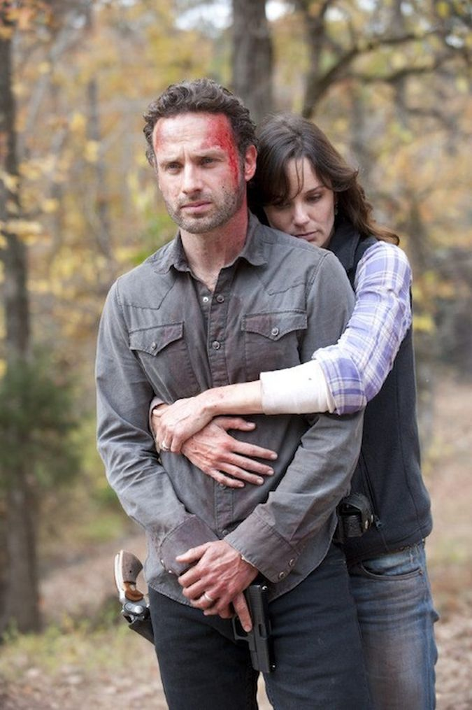 the walking dead rick lori