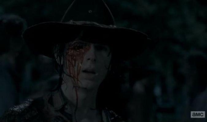 the walking dead carl ojo