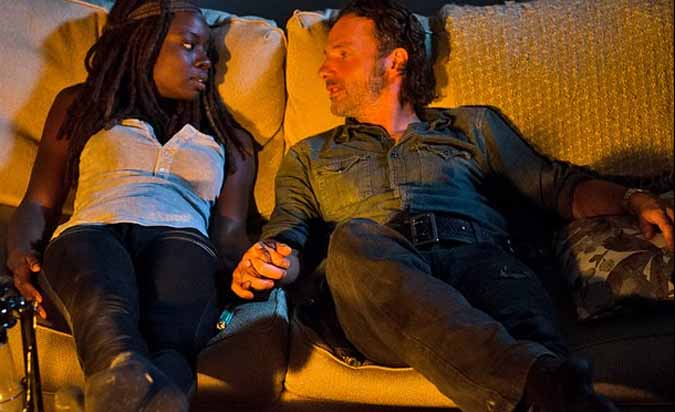 the walking dead rick michonne richonne foto