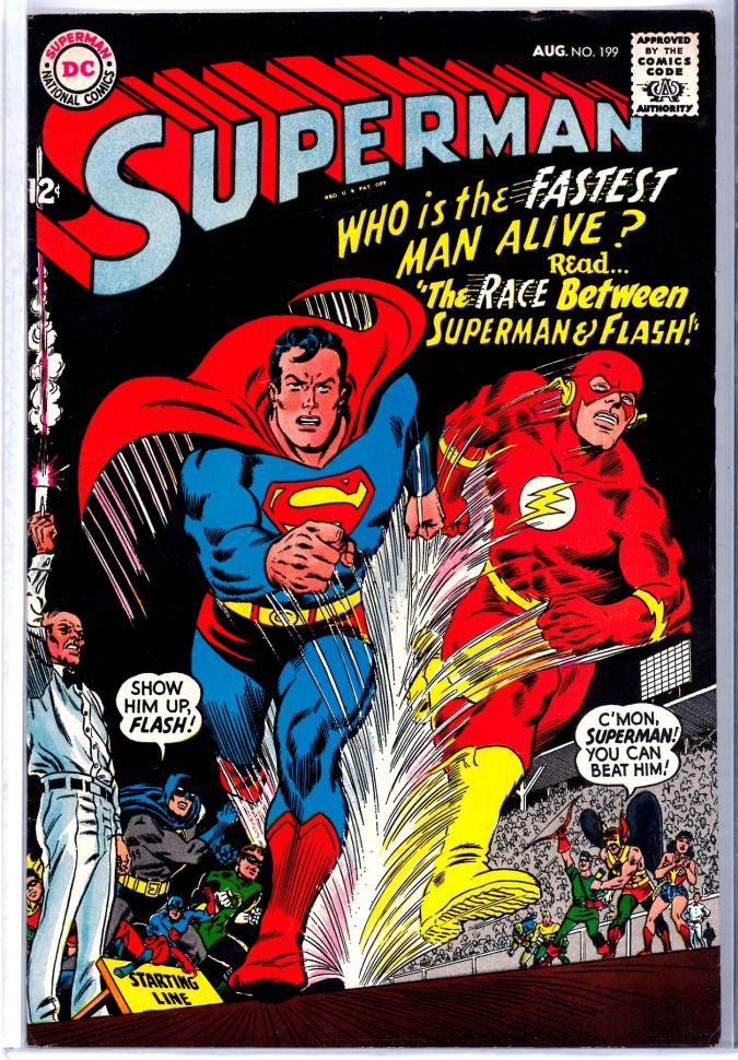 superman flash comic