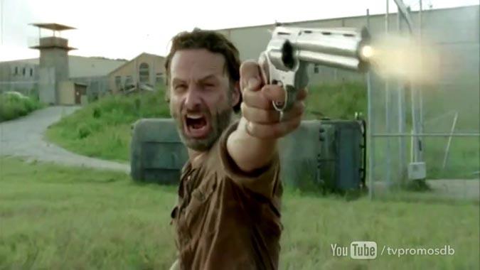 the walking dead rick disparo
