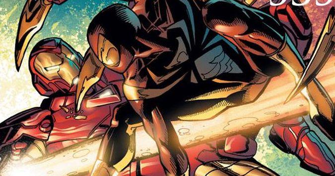 civil war iron man spider-man comic