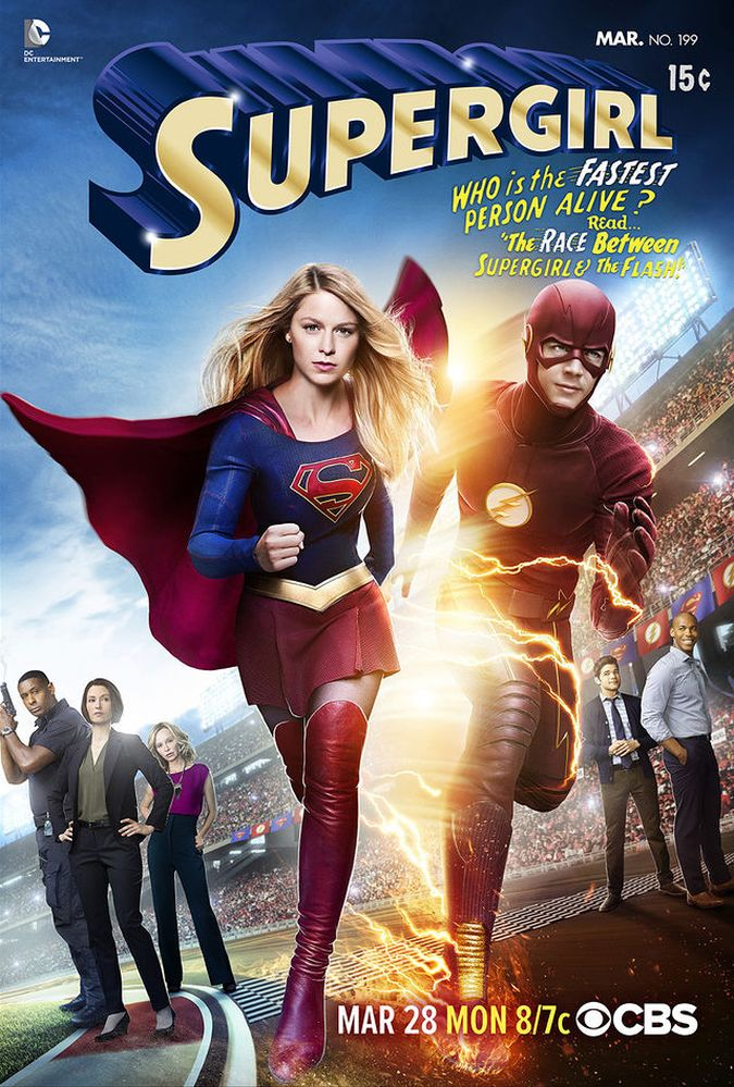 the flash supergirl crossover foto