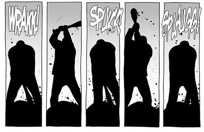 the walking dead negan muerte glenn comic