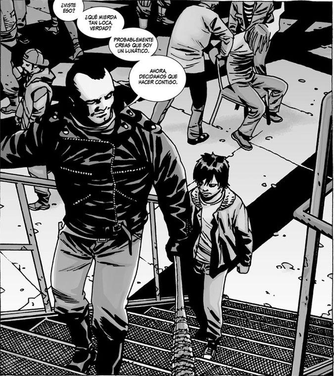 the walking dead comic carl negan
