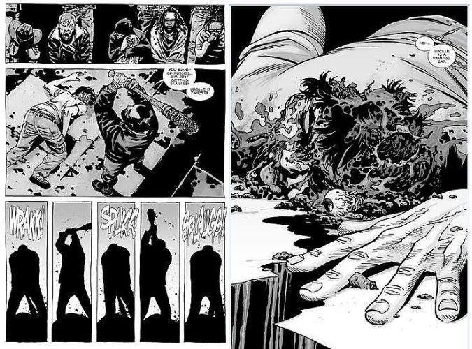 the walking dead glenn muerte negan comic