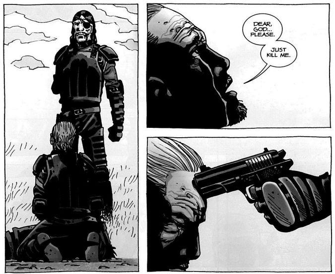 the walking dead muerte hershel gobernador comic