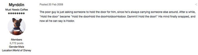 fan teoria hodor hold the door