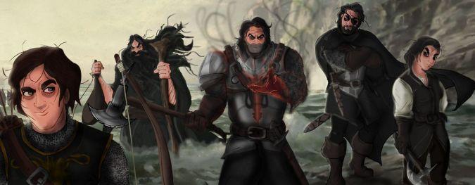 game of thrones hermanos greyjoy