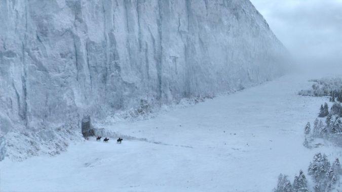 game of thrones dragon hielo muro wall