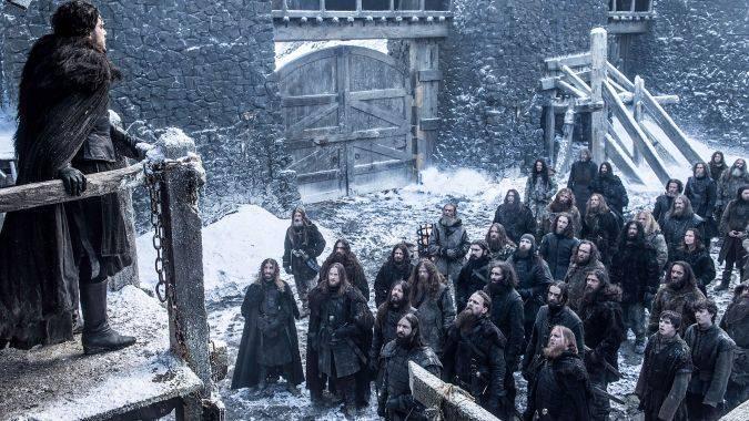 game of thrones jon snow castle black night's watch