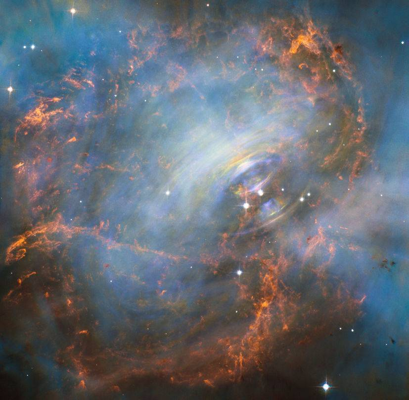 nebulosa cangrejo hubble nasa