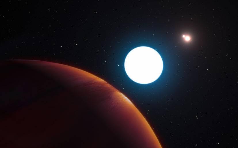 exoplaneta con tres soles