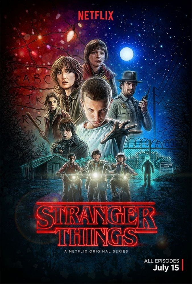 stranger things poster netflix