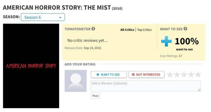 american horror story the mist temporada 6 rotten tomatoes