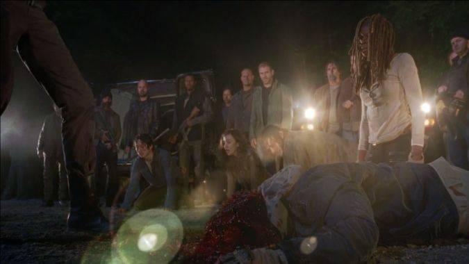 the walking dead 7x01 negan abraham muerte