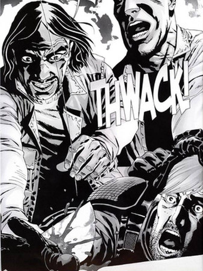 the walking dead comic rick mano gobernador