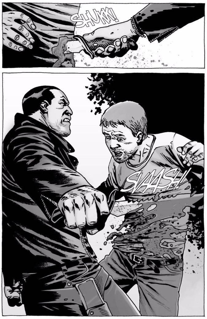 the walking dead comic negan spencer muerte