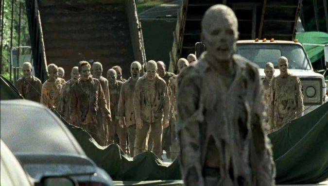 the walking dead 7x06 whisperers zombis