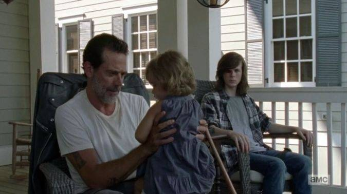 the walking dead 7x07 negan judith carl