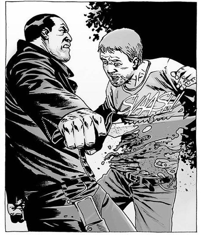 the walking dead spencer muerte comic negan