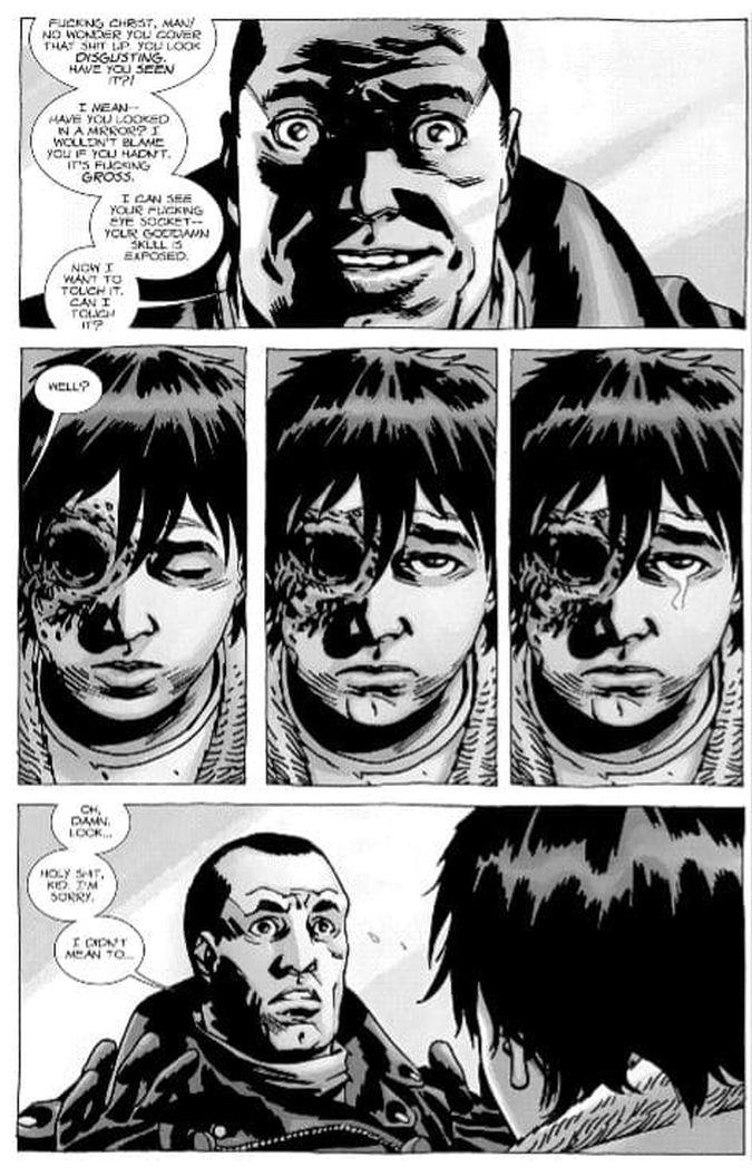 the walking dead comic carl negan parche