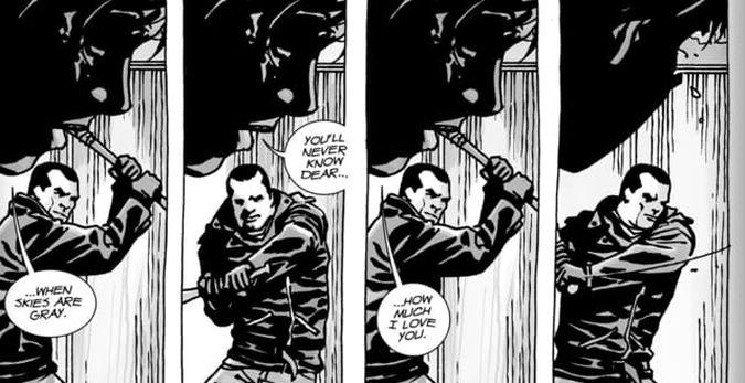 the walking dead comic carl cancion negan