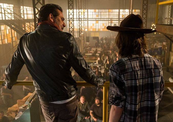 the walking dead 7x07 negan carl