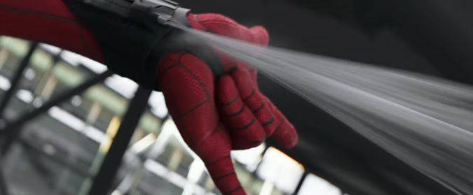 spider-man homecoming trailer lanzador telaraña