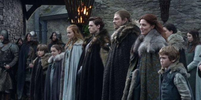game of thrones temporada 1 casa stark familia