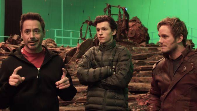 avengers infinity war marvel video actores chris pratt tom holland robert downey jr