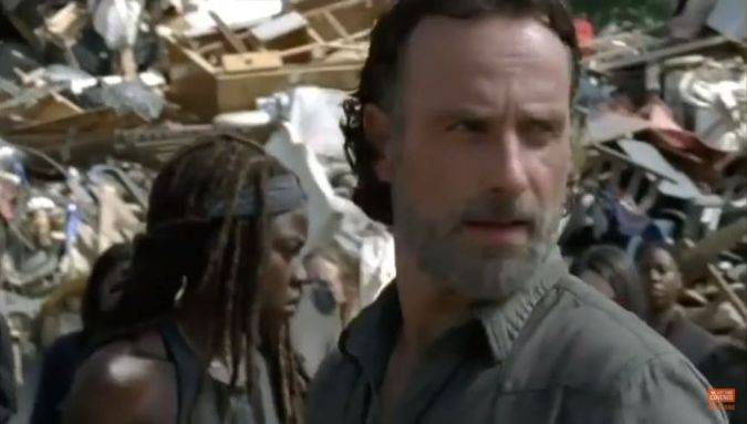 the walking dead 7x10 rick michonne
