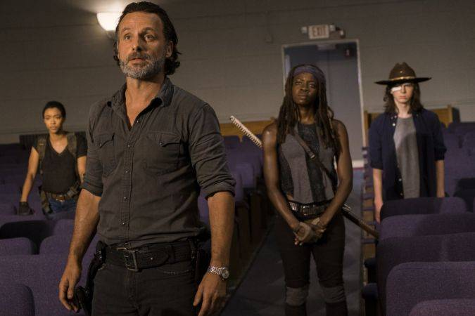 the walking dead 7x09 rick michonne carl sasha