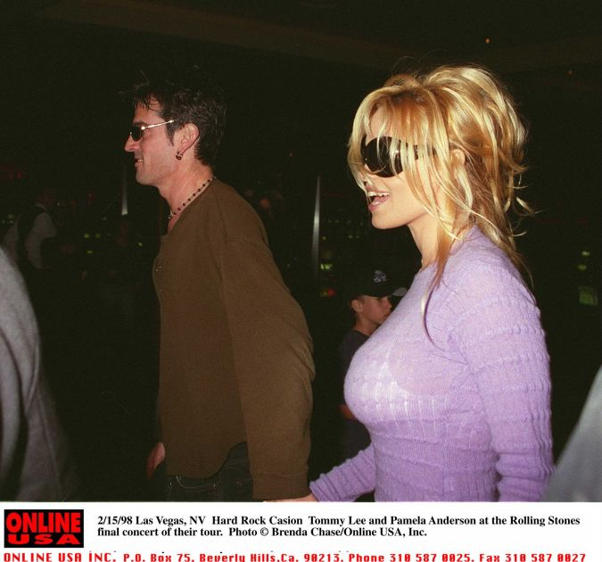 Pamela Anderson with Tommy Lee -