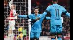 Arsenal vs Barcelona: españoles ganaron 0-2 en Londres por octavos de Champions League - Noticias de alex oxlade chamberlain