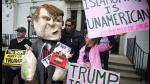 Gaitas, pancartas y tacos rechazan visita de Trump al Congreso de EEUU - Noticias de caja nuestra gente