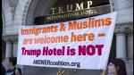 USA: protestan frente al hotel de Trump en Washington el día de su apertura - Noticias de jose muro